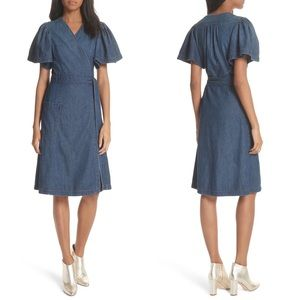 La Vie Rebecca Taylor Denim Wrap Dress
